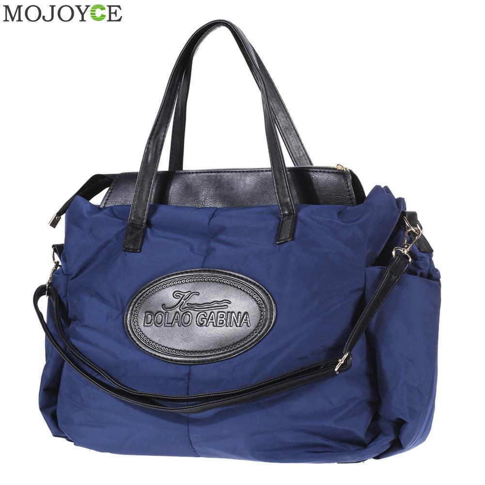 Winter Mobile Space Glove Handbags Sponge Women Messenger Bags Mummy Shoulder Bag Large Capacity Nylon Tote