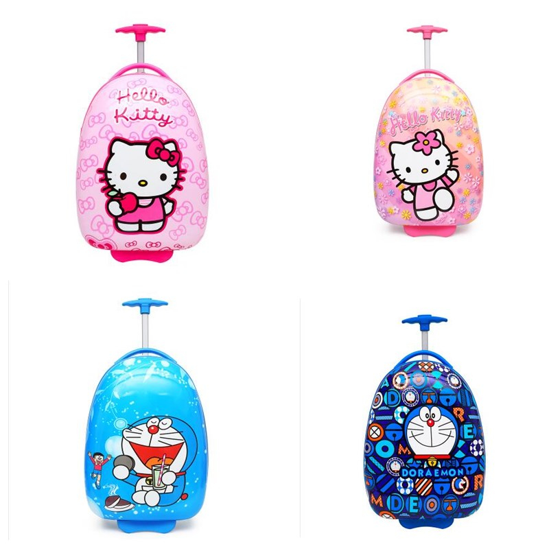 New boys&girls hello kitty Hardside Luggage ABS+ PC Children's Rolling Luggage cartoon Wheeled Bag Trolley Luggage for Kids lovely hello kitty luggage children trolley travel bag 18 inch cartoon kids suitcases hello kitty bag for girls
