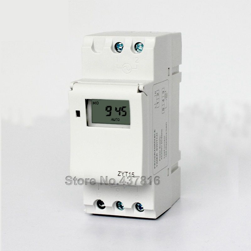 220V Micro-computer Time Control Switch 16 Groups of Switch Programmable Timer Relay Switch ZYT15 0 01 999 second 8 terminals digital timer programmable time relay