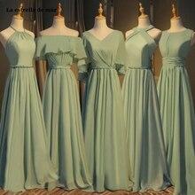 La estrella de mar vestido madrinha2020 new Scoop lace crystal A Line blush pink bridesmaid