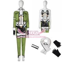 Sword Art Online 2 SAO Gun Gale Online GGO Sinon Asada Shino Cosplay Costume Dress Custom