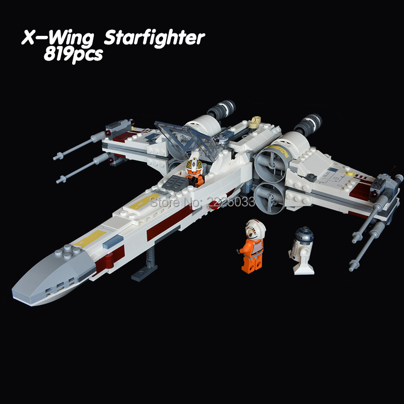 compatible legoeinglys Star Wars The 2018 X-Wing Starfighter set 819pcs with figures Building blocks brick Toys for children mini qute kawaii wise hawk star war darth vader x wing starfighter r2d2 yoda building blocks brick model figures educational toy