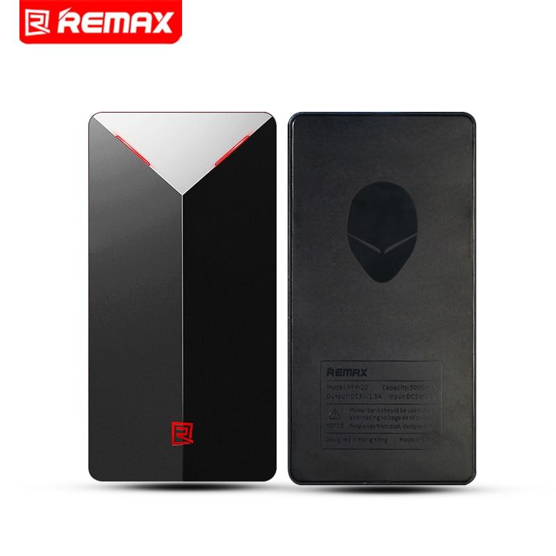 Remax RPP 20 5000mAh Power Bank Super Thin Alien Design Power Bank Backup Power Extra Power