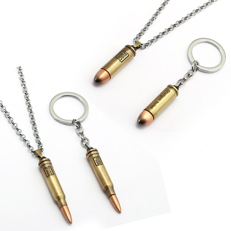 Hot Game PUBG Gun Bullets Keychains letter 300 Win Mognum Metal Pendant Keyring Car Bag Key Chains For Player's Gifts Men