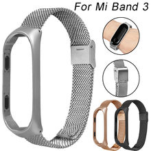 עבור שיאו mi mi Band 3 נירוסטה mi lanese יוקרה Ultrathin צמיד רצועת שעון בנד Dropshipping(China)