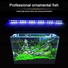 лучшая цена 2 Colors Aquarium Fish Tank LED Light Amphibious Use White Blue/Red Blue Green Light Color Submersible Waterproof Clip Lamp