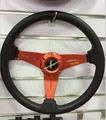 2015 Special MOMO racing modified steering wheel universal PU 350MM 14 inch black / blue / silver / purple / red