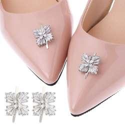 2 шт., обувь, зажим квадратной формы с цирконом Пряжка сделай сам, высокий каблук, украшение, очаровательные свадебные женские украшения