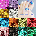 21 Colors Nail Art Diamond Rhombus glitter Silver Red Green Shinny Powder Acrylic Decoration Tools 4g/bag