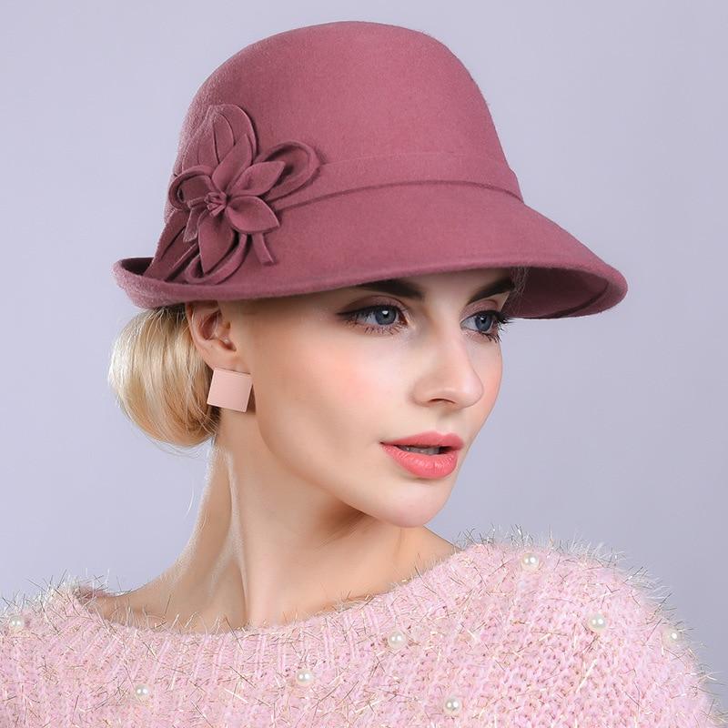 0255c5ead79 Woman Autumn And Winter Party Formal Hat England Fashion Elengant Irregular  100% Wool Felt Hats