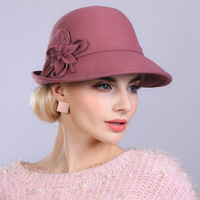 Woman Autumn And Winter Party Formal Hat England Fashion Elengant Irregular 100% Wool Felt Hats