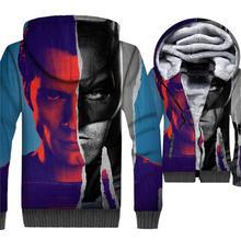 Sweatshirts Man 2018 Winter Thick Mens Hoodies Hip Hop Unisex Zipper Jackets 3D Avengers Anime Hoodied Harajuku Hipter Coat Top