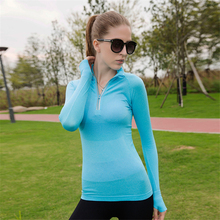KARYZON Long Sleeve Sports font b Shirt b font font b Women b font Tracksuit Elastic