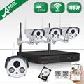 Plug And Play 2 TB HDD Sistema de CFTV Sem Fio 1080 P HD WI-FI Câmera do IP DO IR Zoom 2.8mm-12mm Da Lente Da Câmera Ao Ar Livre WI-FI NVR Kit