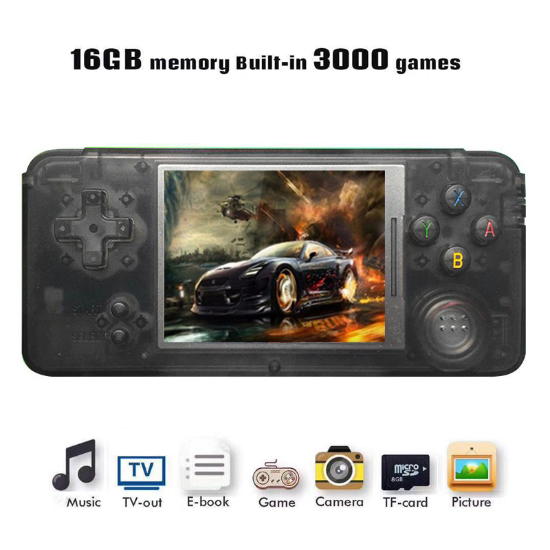 5pcs RS-97 Classic Retro Handheld Game Console Video Game Player 3.0 inch Screen 16GB Portable Games Player Built-in 3000 Games