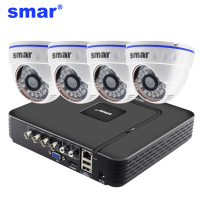 Smar 720P 1080P Video Surveillance System 4CH H.264 CCTV HDMI DVR Security Kit Indoor Home Security Camera Day&Night Detect