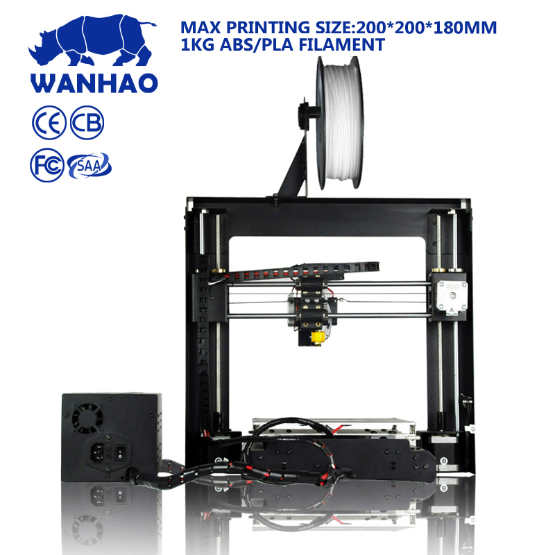 Wanhao factory cheap high quality Duplicator I3 V2.1 (Prusa i3) 3D Printer kit metal frame with heated bed and LCD SD-card
