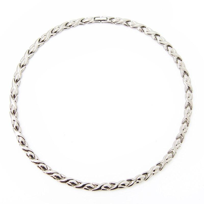 купить Trendy Health Energy Necklace Men Magnetic Germanium Necklace Negative Ion Infrared Healing Titanium Chokers Necklaces for Women по цене 2112.68 рублей