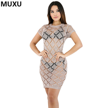 MUXU 2017 lace dress sexy transparent womens dresses party night club bodycon backless summer clothing vestido