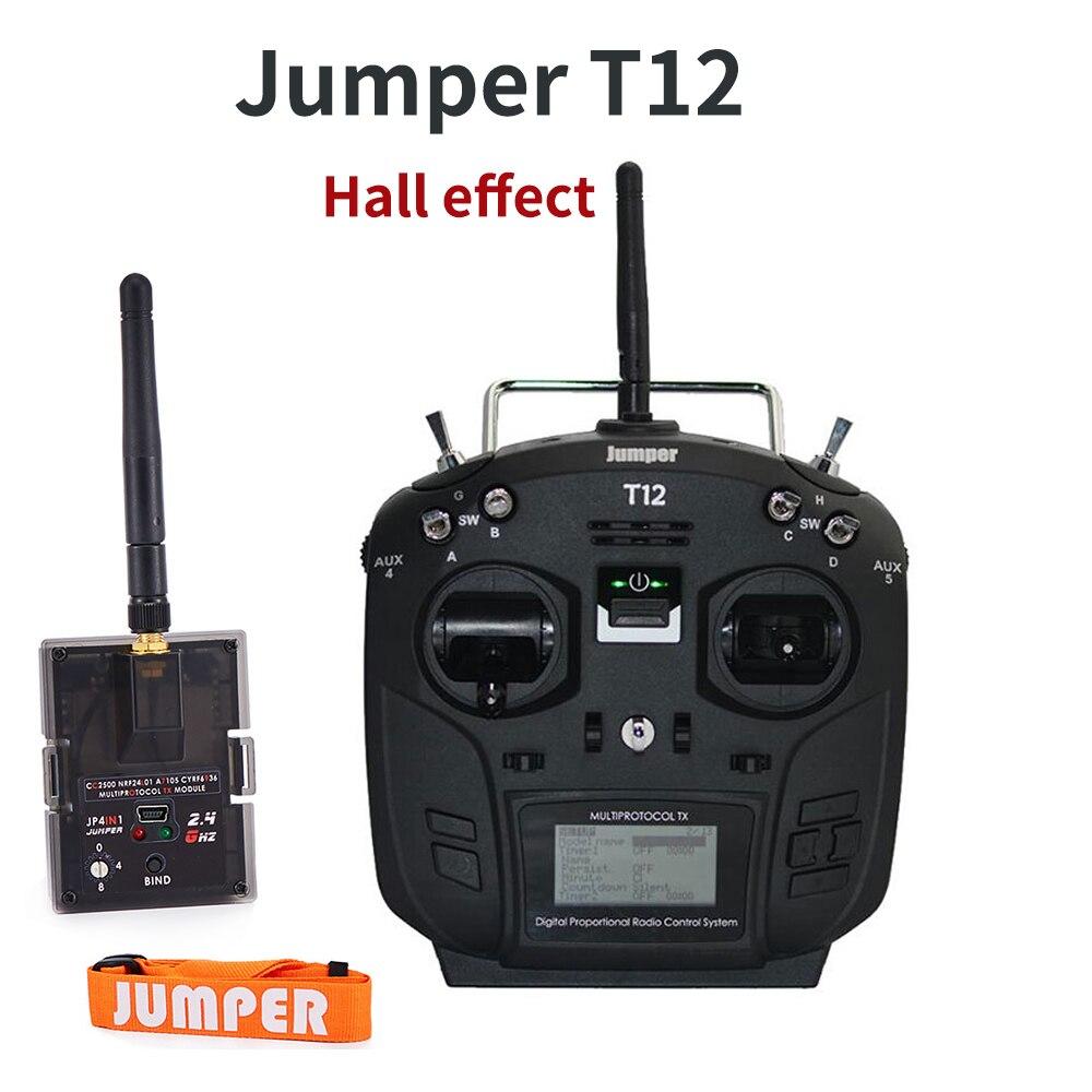 Sweter T12 Plus wielu protokół nadajnik radiowy pilot zdalnego sterowania w/JP4 in 1 moduł RF czujnik Halla Gimbal czarny biały w Części i akcesoria od Zabawki i hobby na  Grupa 1
