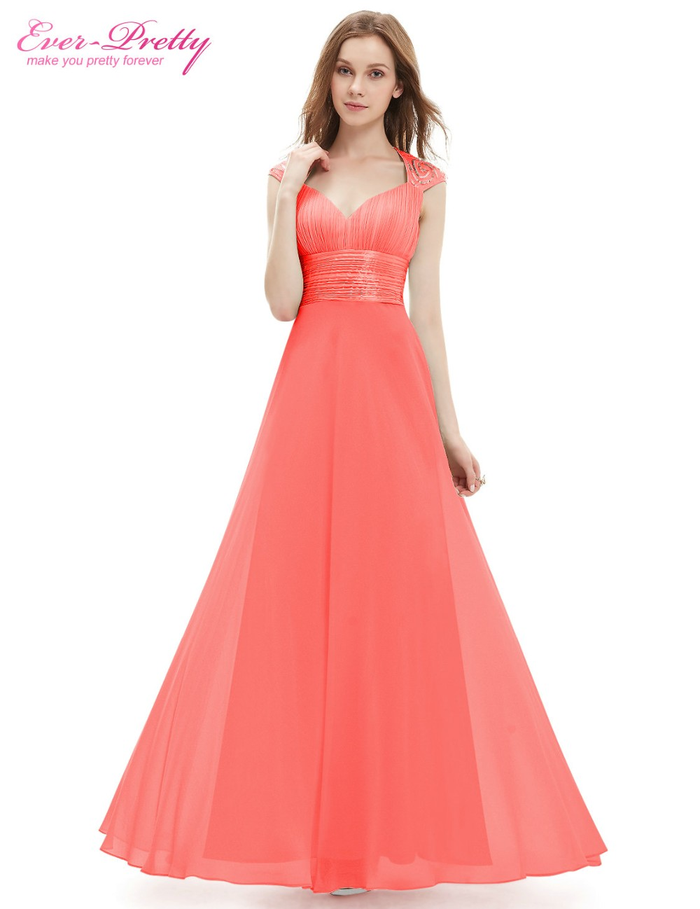 Popular Coral Colored Bridesmaid Dresses-Buy Cheap Coral ...