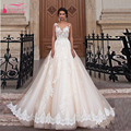 Arabic Luxury A Line Wedding Dress Lace Appliques illusion Off Shoulder Bridal Gowns 2016 gothic wedding dress china Z142