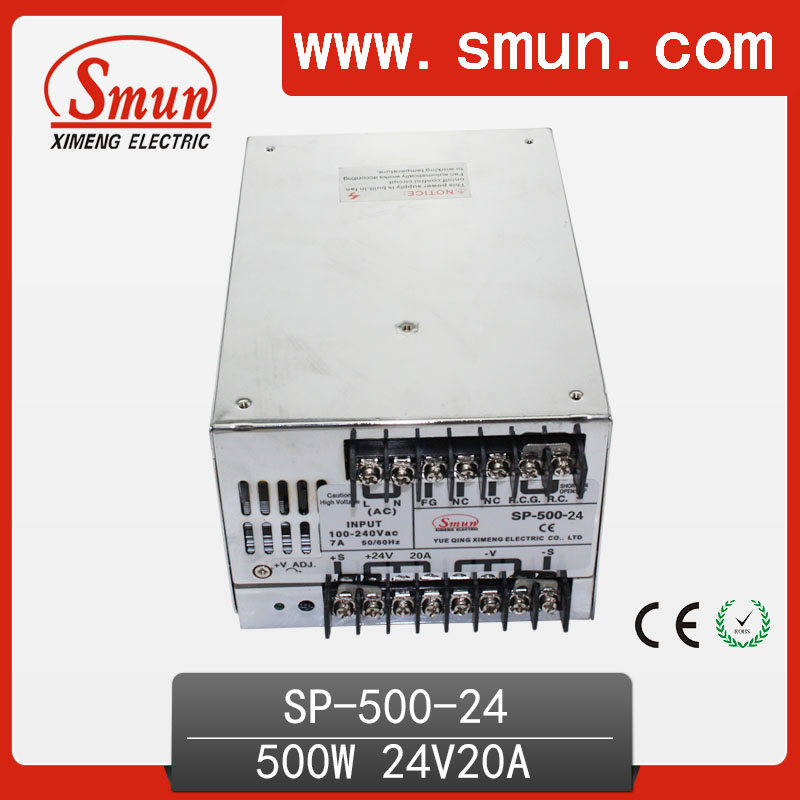 500W 24V With PFC Single Output Switching Power Supply With CE ROHS From China Supplier Industrial And Led Used ce rohs ms 50 24v ac dc mini size single output switching power supply from chines supplier
