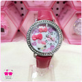 Relogio 2015 New Fashion Children Japan Quart Leather Strap Watch Kids Girls Cartoon 3D Hello Kitty Wristwatches Best Gift