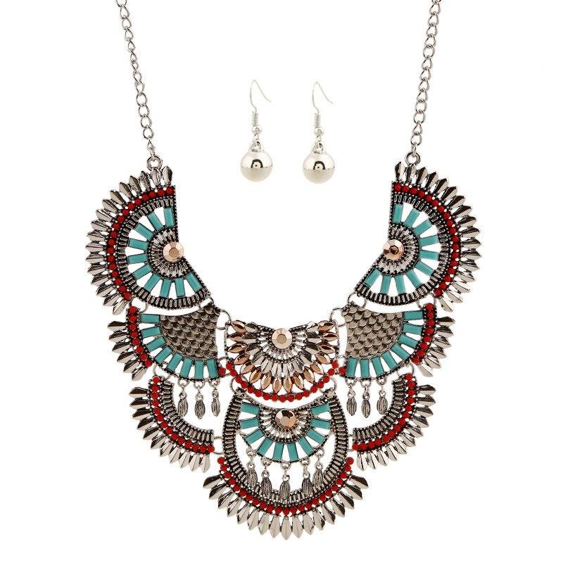 Vintage déclaration Chokers colliers pour femmes bohème Style ethnique Maxi Collier Collier Femme Bijoux turc Bijoux