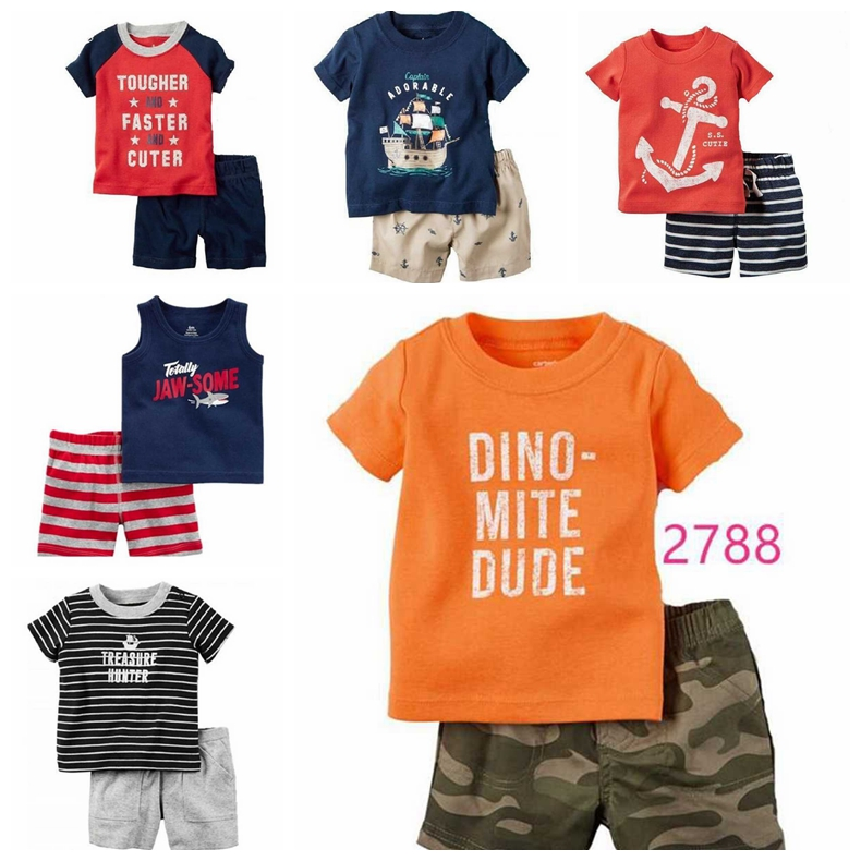 Boys Baby Toddler Little Sailor Club Anchor T-Shirt Top Newborn to 24 Months