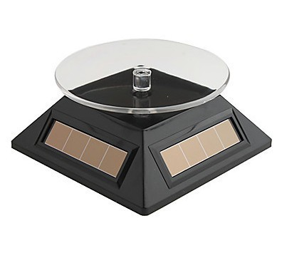 2013 solar display self turn table  for jewellery, watch, MP3, cell phone