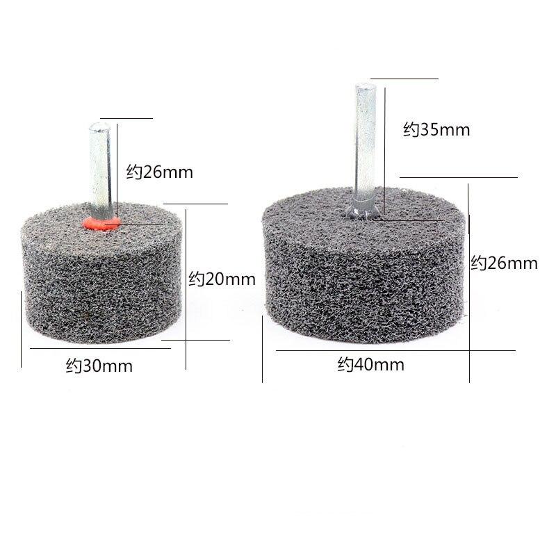 6*20-6*50 мм 6 мм ручка через цилиндрическое волокно нейлон Монтажная точка шлифовальная насадка для полировки полировальный станок вращающийся инструмент