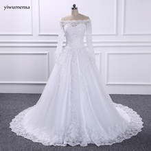 yiwumensa robe de mariage Wedding Bridal Dresses China vestido de noiva Cheap Luxury Long Sleeves Ball Gown Wedding Dress 2018