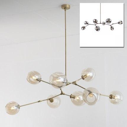 LOFT Industrial Chandeliers Globe Glass Lights Modern Minimalist