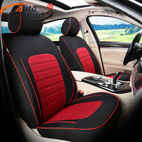 Custom Exact Fit Linen Fabric Front Rear Seat Covers Sets For Ford Focus 3 Car Seat