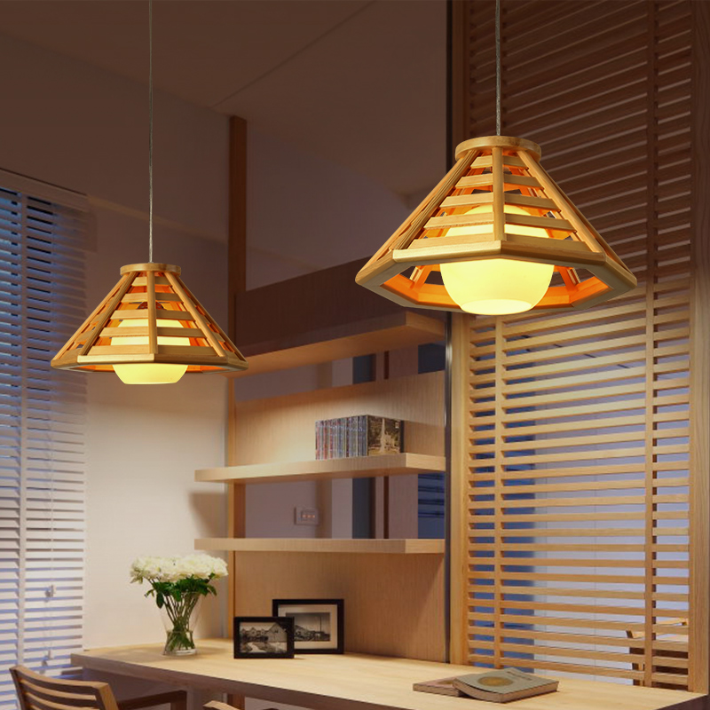 Creative Japanese Tatami Pendant Lights Nordic Simple Log Restaurant Pendant lamp Bar LED Art Luminaire restaurant light ZL57 japanese style solid wood bar simple led nordic pendant lights a1 log restaurant lights creative personality round wood za
