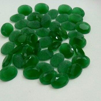 150 Uds Oval 3*5mm-13*18mm Malay Jades Color gemas de cristal cuentas de vidrio piedra de vidrio sintético