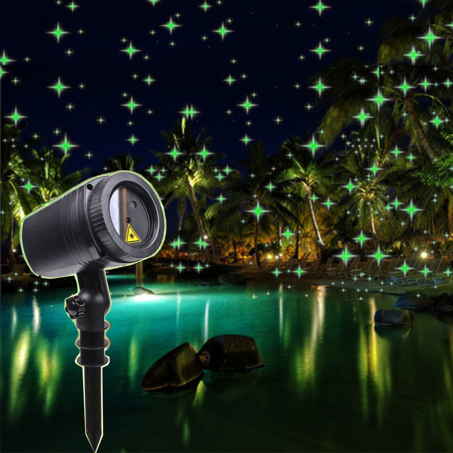 Thrisdar Full Sky Star Christmas Laser LED Projector Lamp Green Outdoor LED Laser Stage Light Outdoor Garden Lawn Starry Light