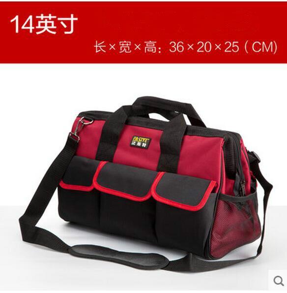FASITE outil Combo sac taille ceinture organisateur professionnel électriciens outil pochette rouge sac à outils rouge