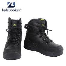 Мужские болотные ботинки для рыбалки; дышащая водонепроницаемая обувь для охоты; уличная противоскользящая обувь для рыбалки; ботинки с резиновой подошвой