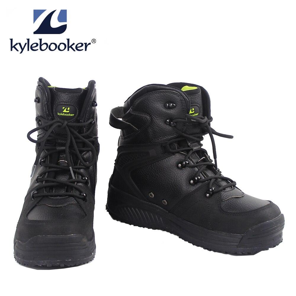 Bottes de pêche pour hommes chaussures de chasse imperméables respirantes bottes de pêche à la mouche anti-dérapantes en plein air bottes à semelle en caoutchouc