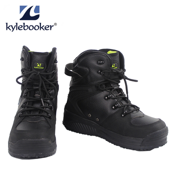 Mens Fishing Wading Boots Breathable Upstream Shoes Outdoor Anti-slip Fly Waders Rubber Sole Boot