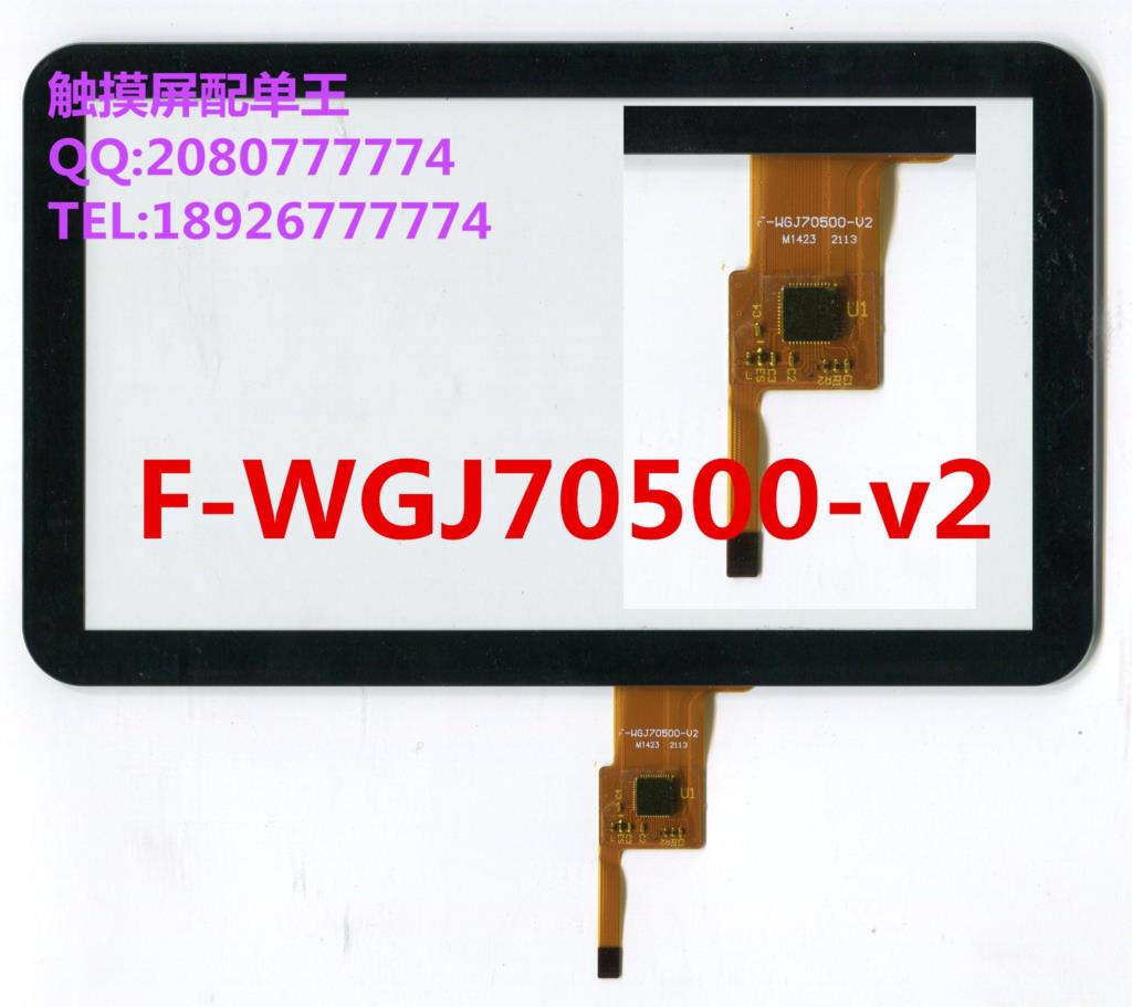 7 inch black in stock F-WGJ70500-v2 tablet pc touch screen panel  Digitizer Glass sensor replacement F-WGJ70500 9 7 inch pingbo pb97dr8070 06 touch screen digitizer sensor outer glass tablet pc replacement