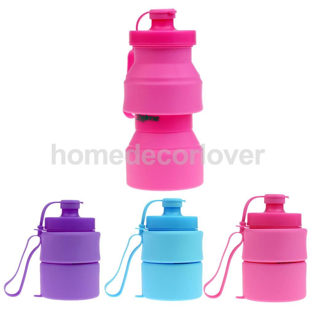 750ml Creative Collapsible Foldable Silicone Drink Sport Water Bottle Camping Travel Silicone Bicycle Bottle