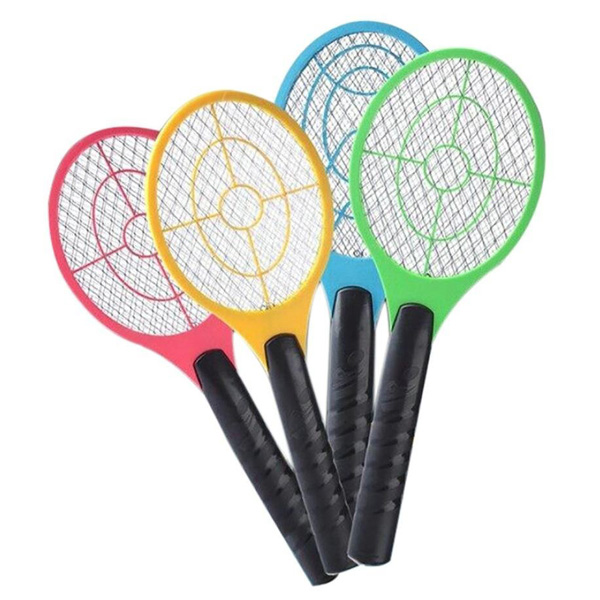 Hand Racket Electric Swatter Home Garden Insect Bug Bat Wasp Zapper Fly Mosquito Pest Control P7Ding