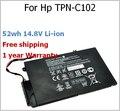 52wh 14.8 V Batería para HP EL04XL TPN-C102 HTSNN-UB3R IB3R para ENVY 4 681879-1C1 681949-001 TPN-C102 EL04XL HSTNN-IB3R 4-1001