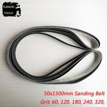 5 ชิ้น 50*1500mm Sanding Belt สำหรับโลหะ 1500*50 มม. Carborundum หน้าจอขัดเปียกและแห้ง dual   ใช้กรวด 60 120 180 240