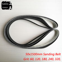 5 Pieces 50*1500mm Sanding Belt For Metal 1500 * 50mm Carborundum Sanding Screen Wet and Dry Dual use With Grit 60 120 180 240
