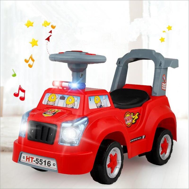 Voiture de torsion pour enfants avec musique bébé Scooter 1-3 ans jouet à quatre roues Yo voiture tour sur jouets pour enfants cadeaux de noël jouets