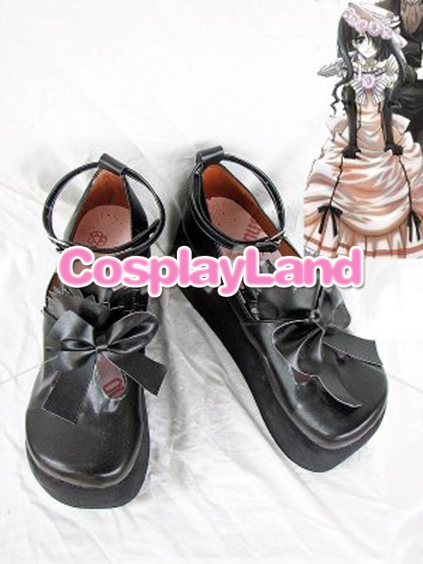 Black Butler Ciel Phantomhive Cosplay Boots <font><b>Shoes</b></font> Anime Party Cosplay Show Boots Custom Made for Adult Women <font><b>Lolita</b></font> <font><b>Shoes</b></font> image